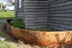 new raised bed in front of ark